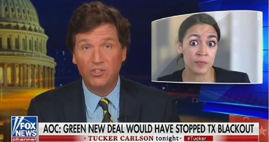 PRICELESS: Tucker Carlson Accused Of Adding 'Googly Eyes' To AOC - Guess What? - The Tatum Report