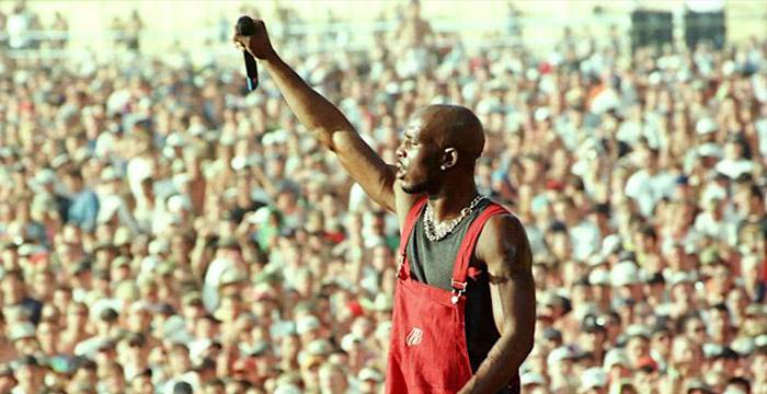 DMX performs at Woodstick July 23 1999